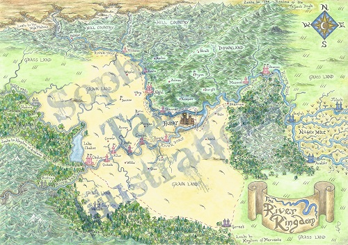 The River Kingdom Map by Sophie Tallis
